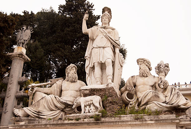 Romulus and Remus, Founders of Rome stock photo