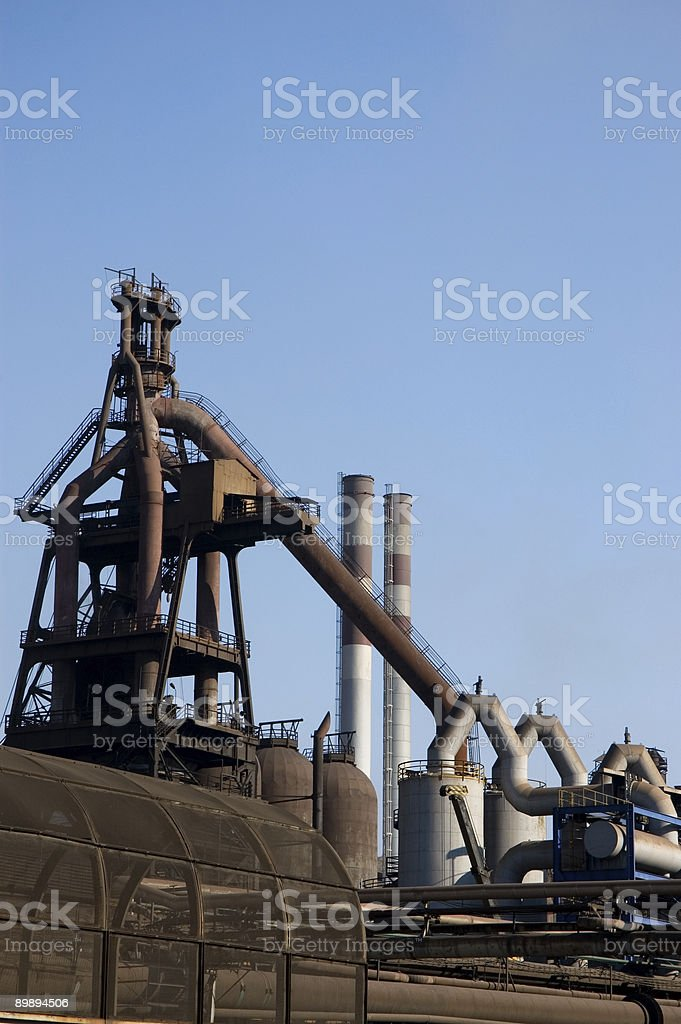ıron and steel factory royalty-free stock photo