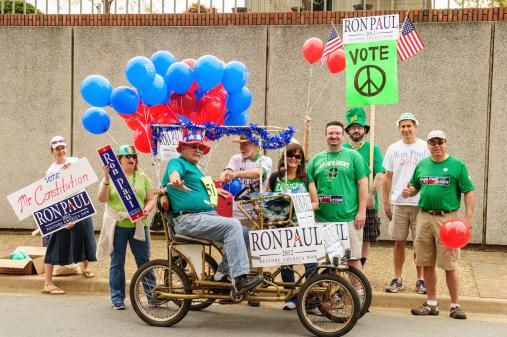 Ron Paul Supporters Stok Fotoğraflar & Aday - Sosyal rolü'nin Daha Fazla Resimleri