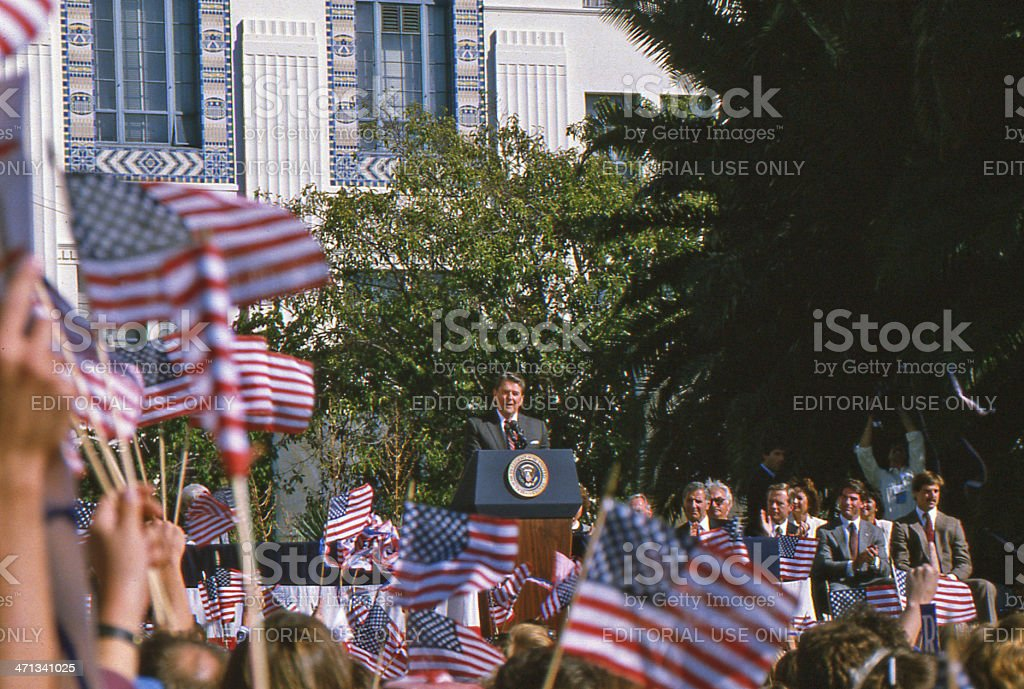Ronald Reagan Rally stock photo