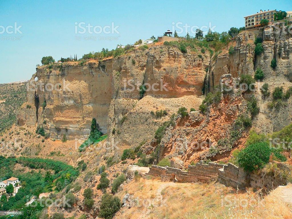 Ronda canyon royalty-free stock photo