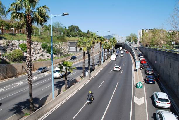 Ronda de Dalt ring road, Barcelona stock photo