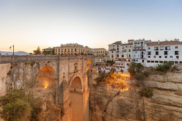 Ronda in sunset, Andalusia, Spain