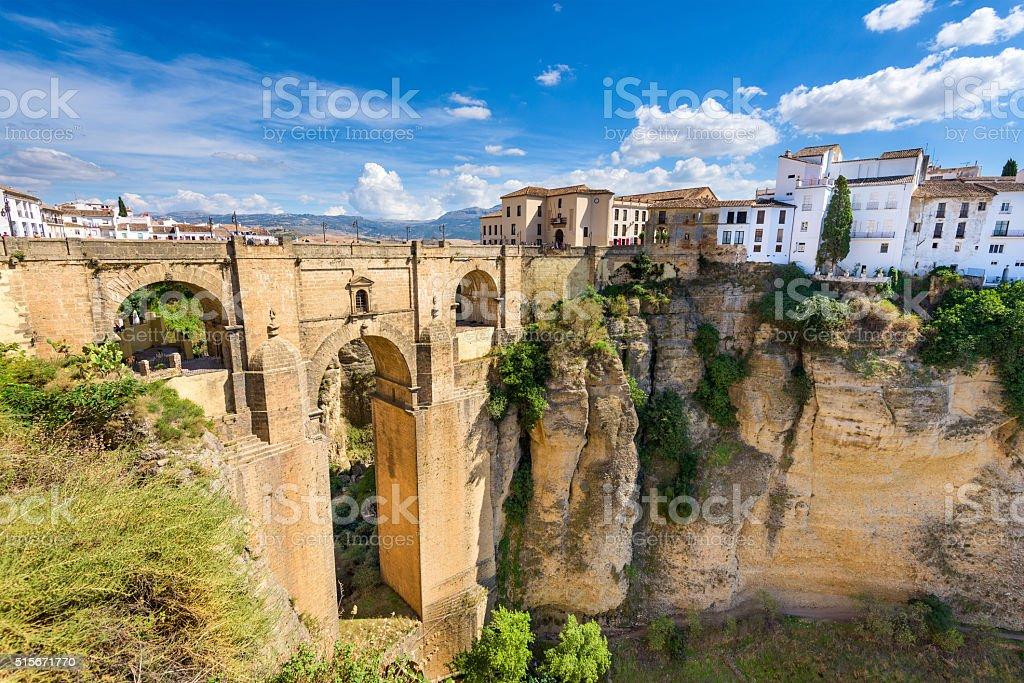 Ronda Spain Bridge stock photo