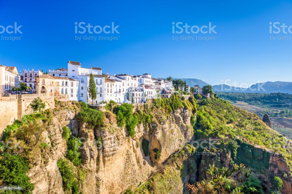 Ronda, Spain old town stock photo