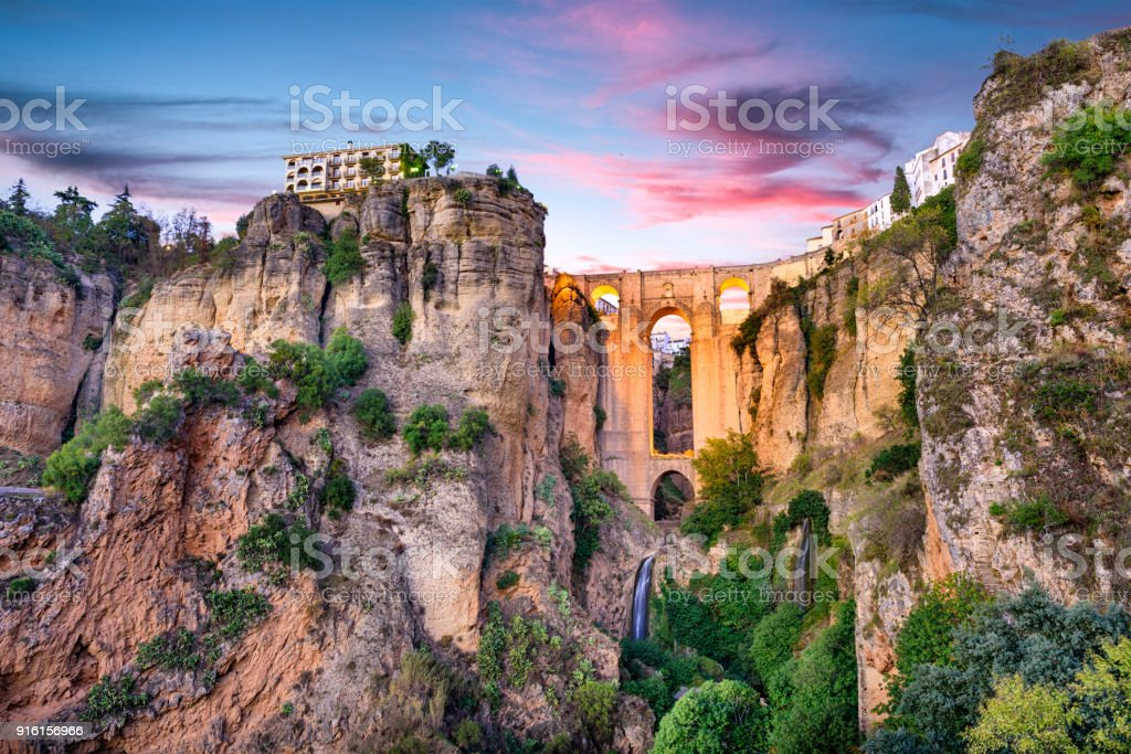 Ronda Spain Puente Nuevo Bridge stock photo