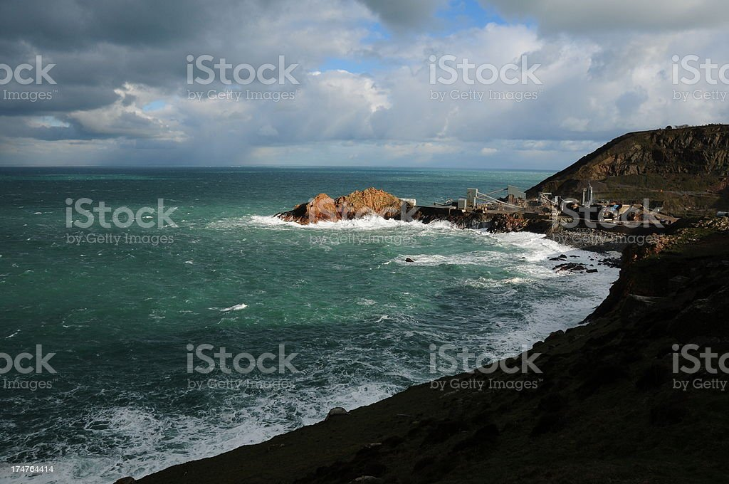 Ronez quarry, Jersey. royalty-free stock photo