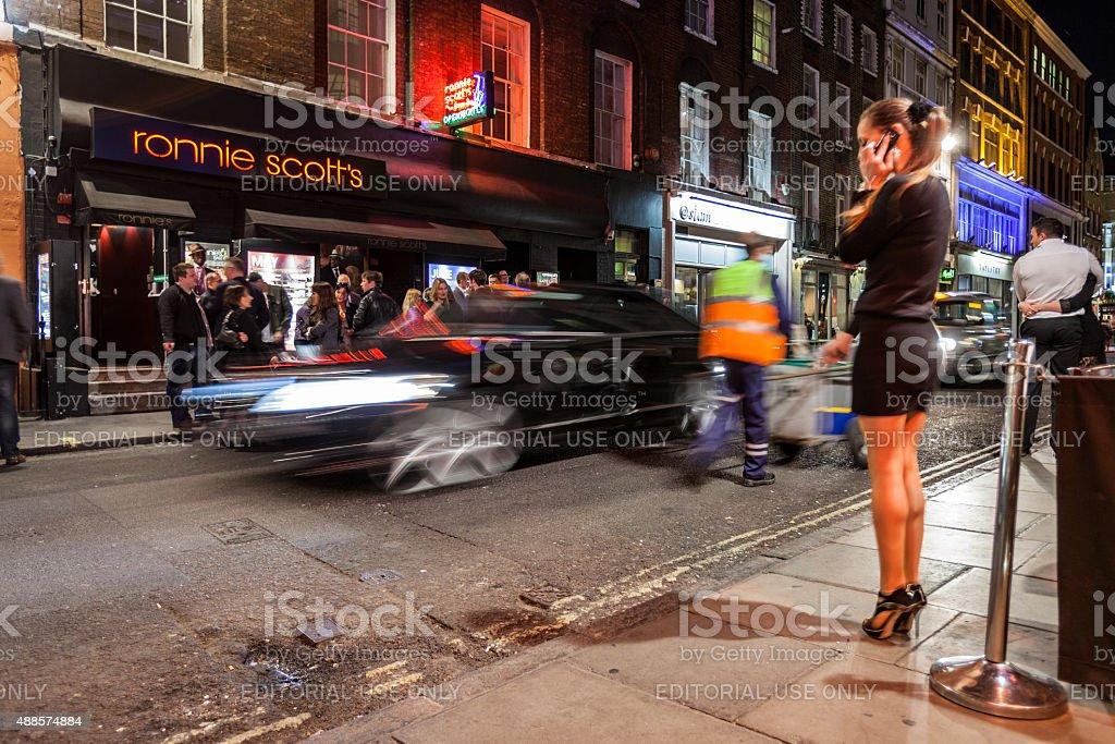 Ronnie Scott's Jazz Club, Soho, Londres - foto de stock