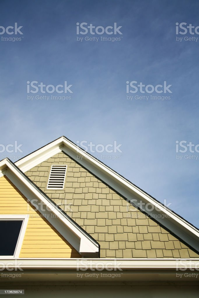 Roof against sky royalty-free stock photo
