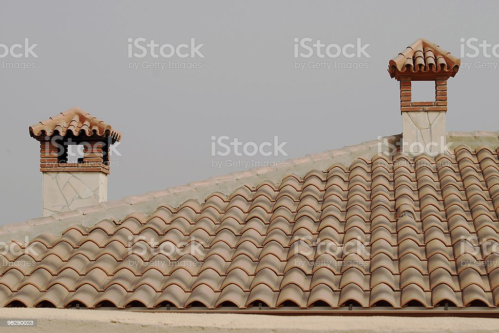 Roof and chimneys. Spain royalty-free stock photo