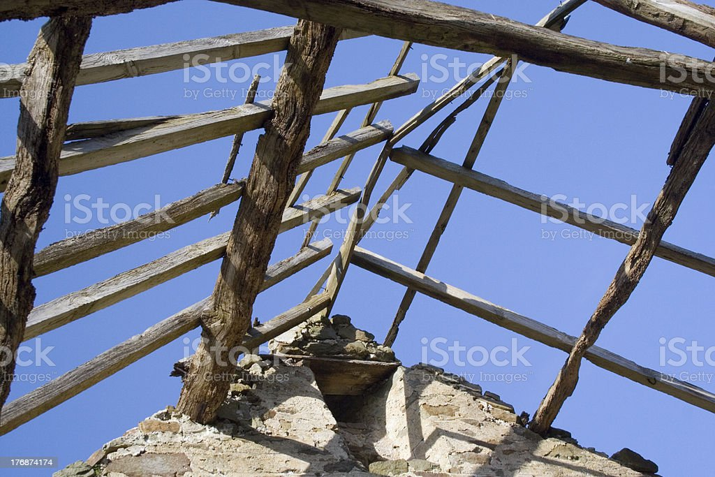 Roof beams 2 royalty-free stock photo