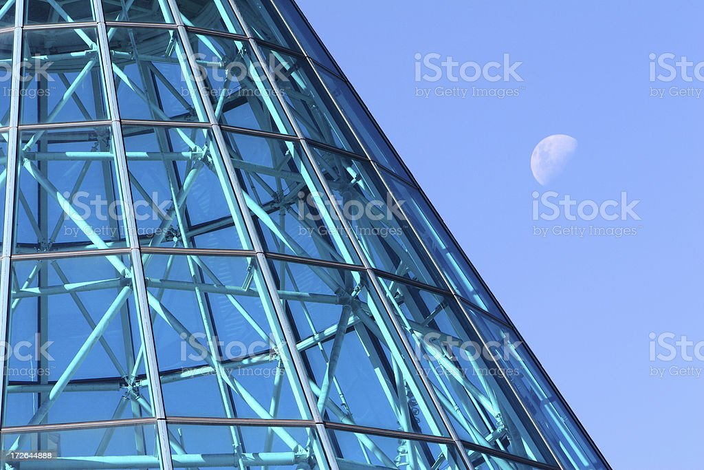 Roof cone and moon royalty-free stock photo
