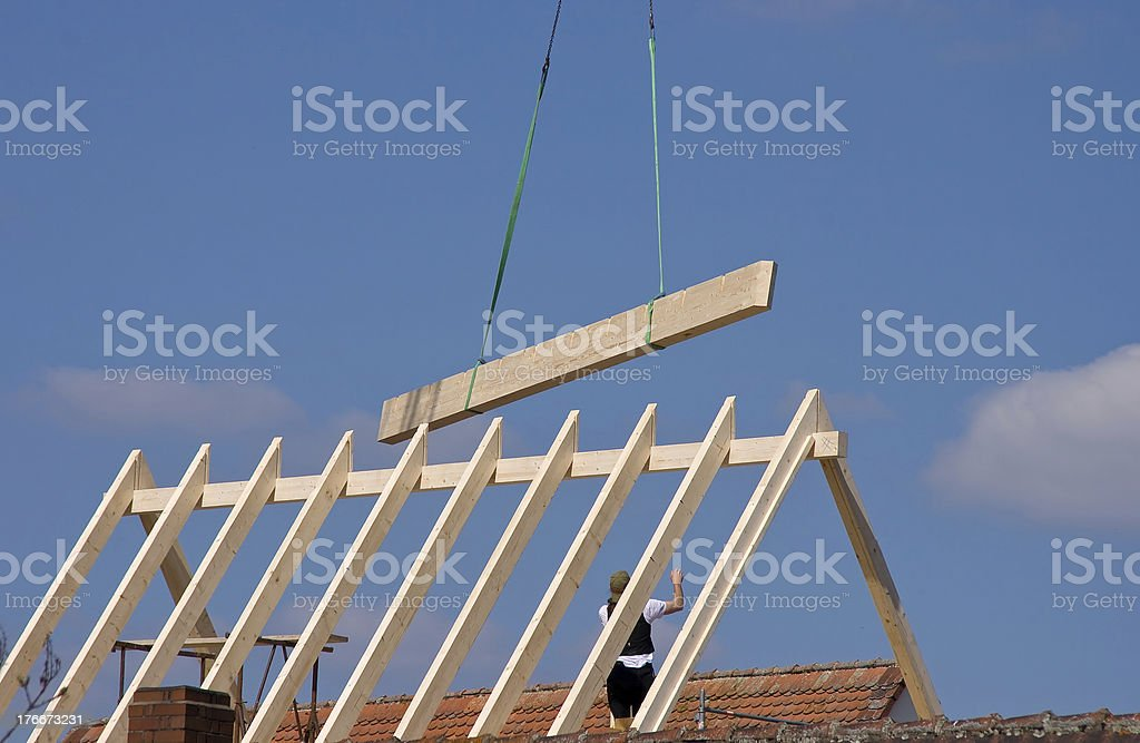 roof construction royalty-free stock photo