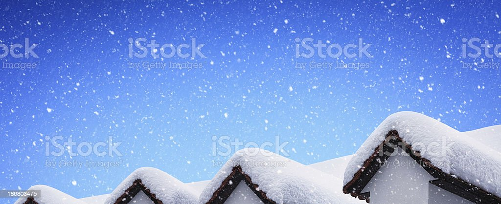 Roof Covered With Snow royalty-free stock photo