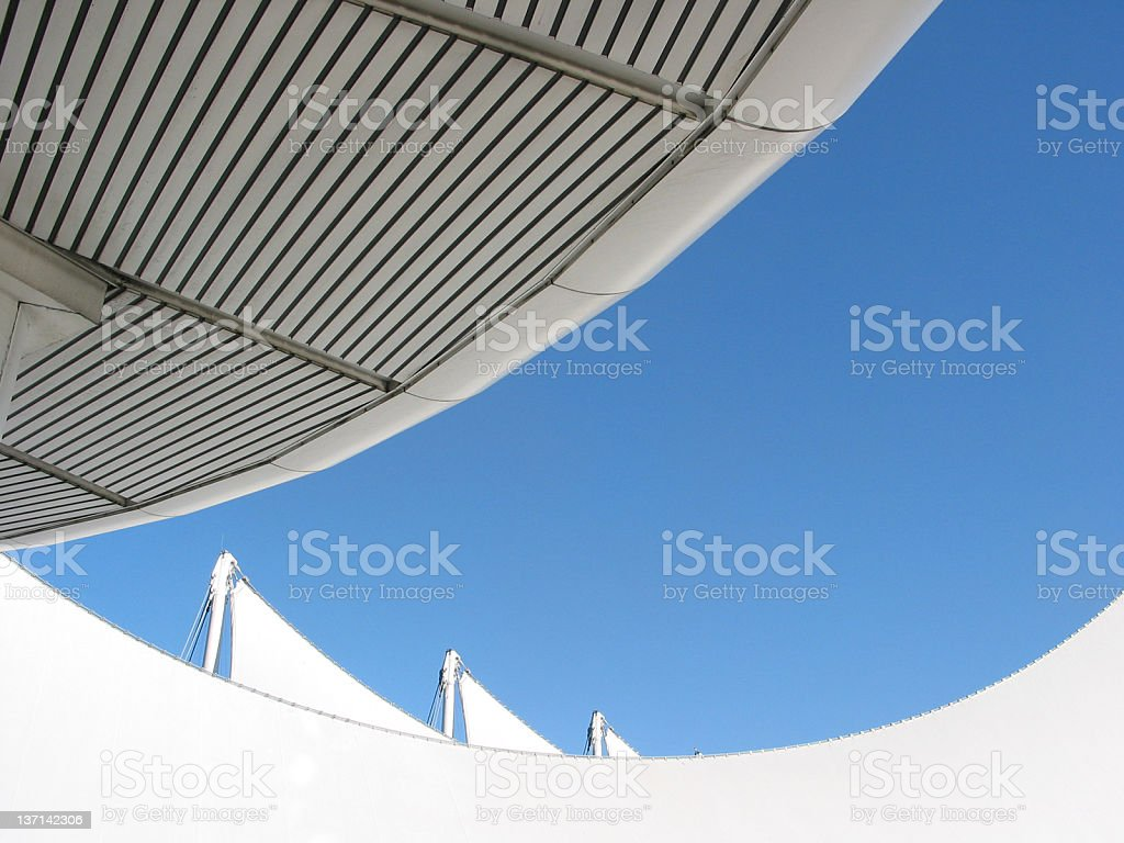 Roof Detail, Blue Sky stock photo