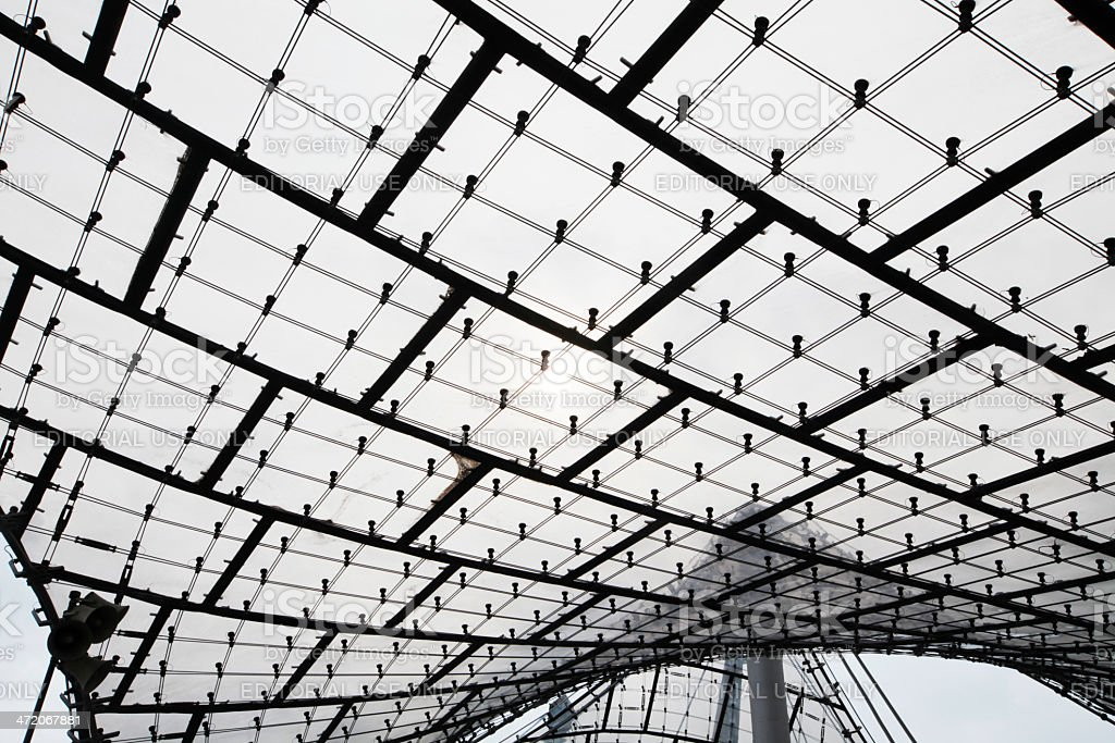 Roof Detail of Munich`s Olympic Stadium, Germany royalty-free stock photo