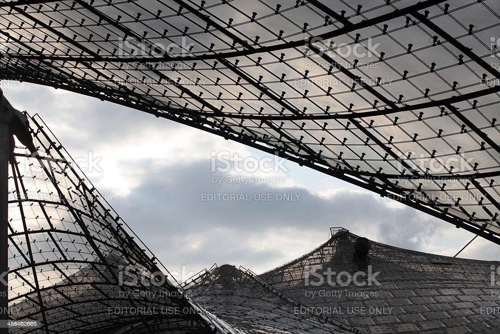 Dach – detail des Olympischen stadion in München – Foto