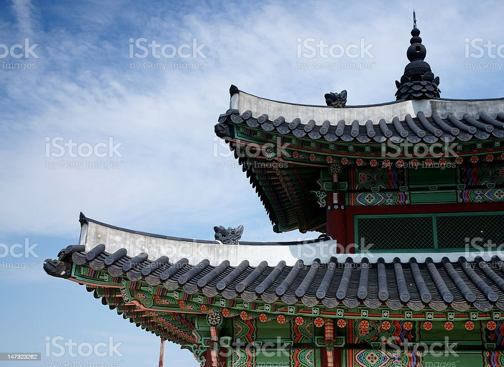 Roof Details Traditional Korean Architecture Suwon South Korea Royalty Free Stock Photo