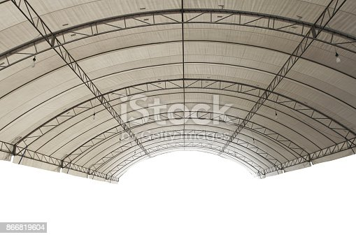 istock Roof Dome construtction, canvas and metal sheet 866819604