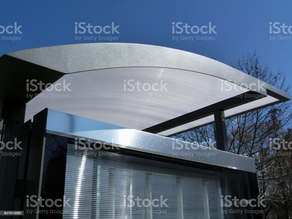 Roof Edge Detail Of Modern Bus Shelter Stock Photo Download Image Now Istock