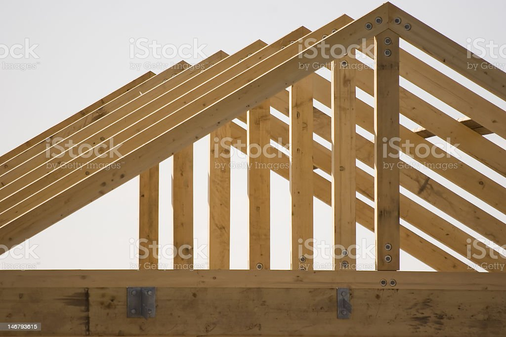 Roof Framing stock photo