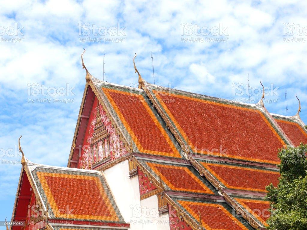 Roof gable in Thai style - Zbiór zdjęć royalty-free (Antyczny)