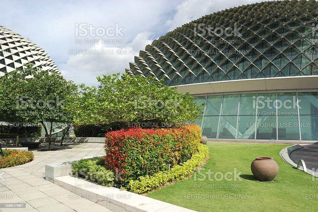 Roof Garden Esplanade Theatres Singapore Stock Photo & More Pictures ...