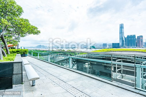 Rooftop Garden in Central, Hong Kong