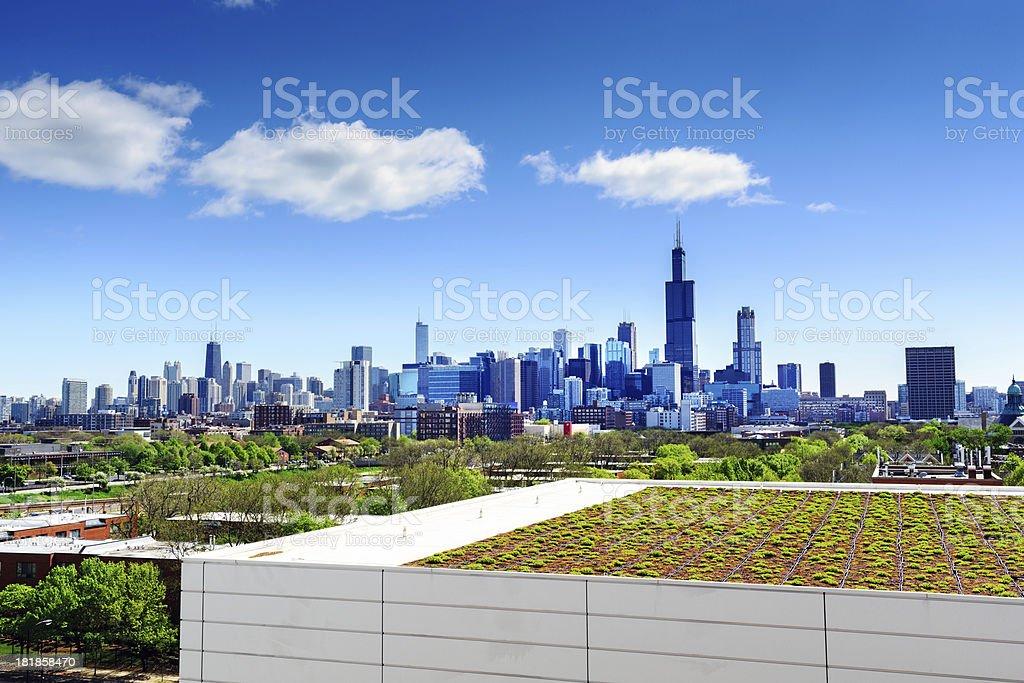 Dachgarten in Chicago - Lizenzfrei Architektur Stock-Foto