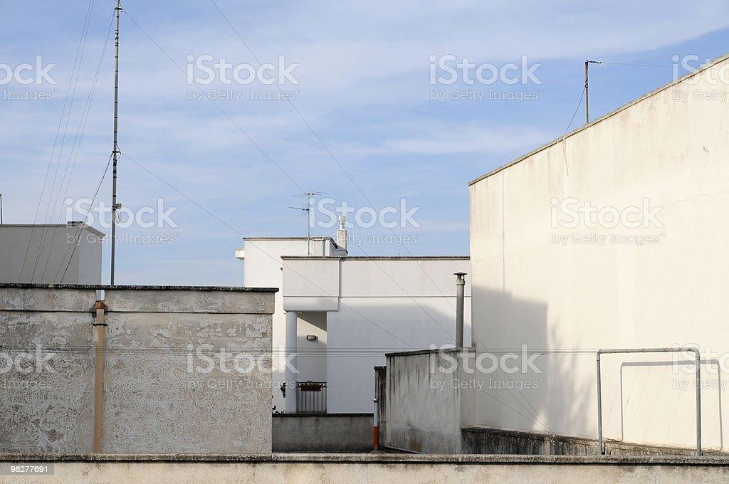 지붕 하우스 상의 만들진 남왕 이탈리어어 무시레프 royalty-free 스톡 사진
