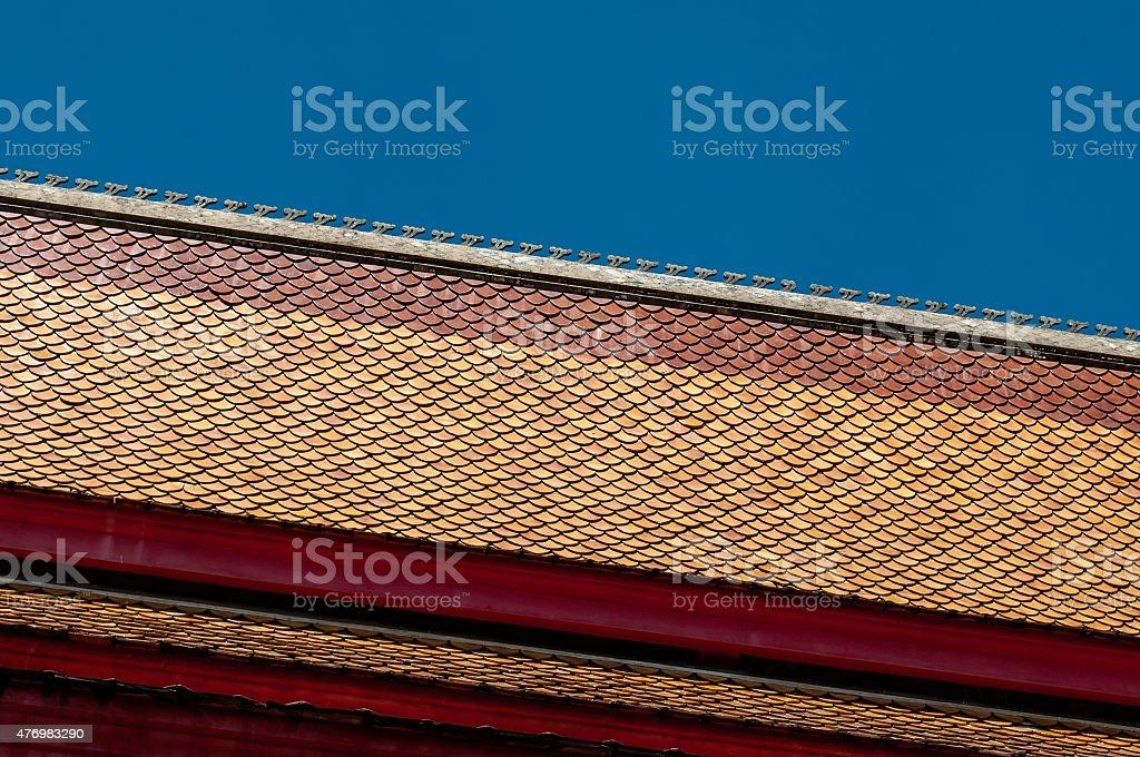 Roof in Luang Prabang stock photo