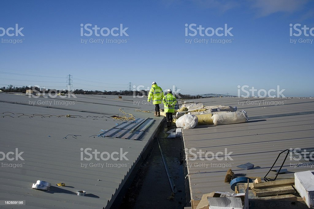 Roof Inspection stock photo