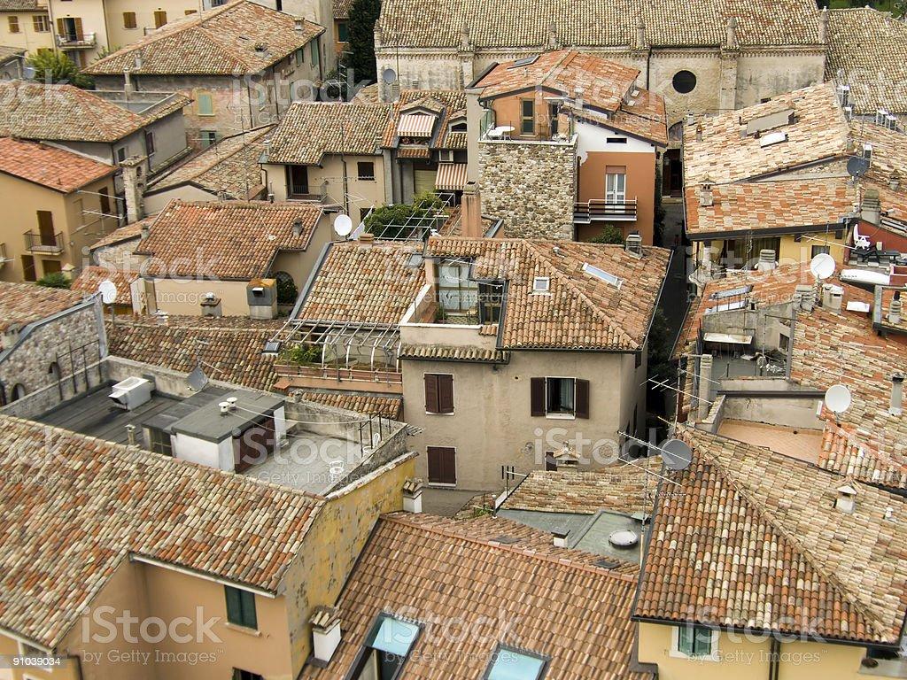 Roof - Italian way royalty-free stock photo