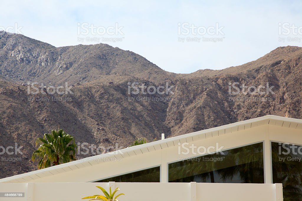 Roof Line And Clerestory Windows Of Mid Century  Home stock photo