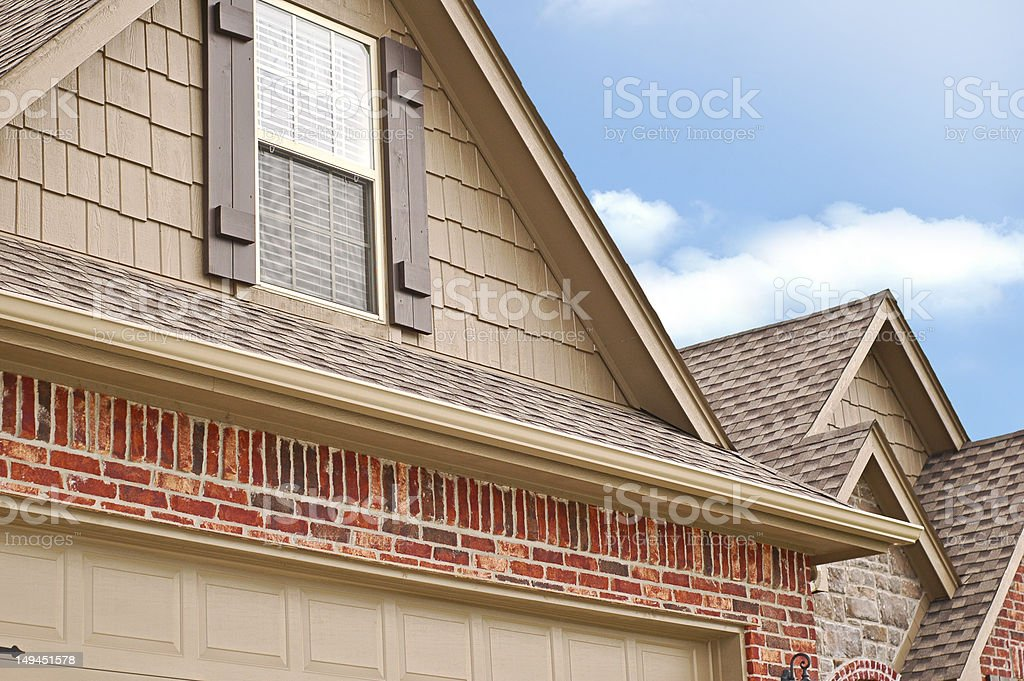 Roof Line Gables stock photo