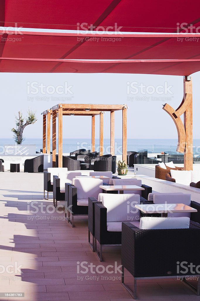 Roof lounge royalty-free stock photo