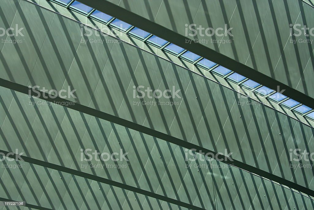 Roof of a building stock photo