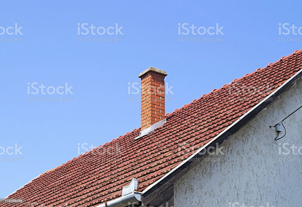 roof of a house royalty-free stock photo