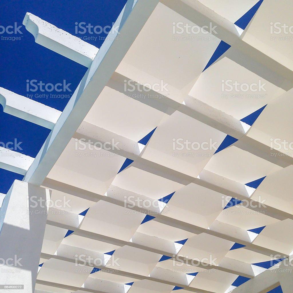 Roof of a pergola stock photo