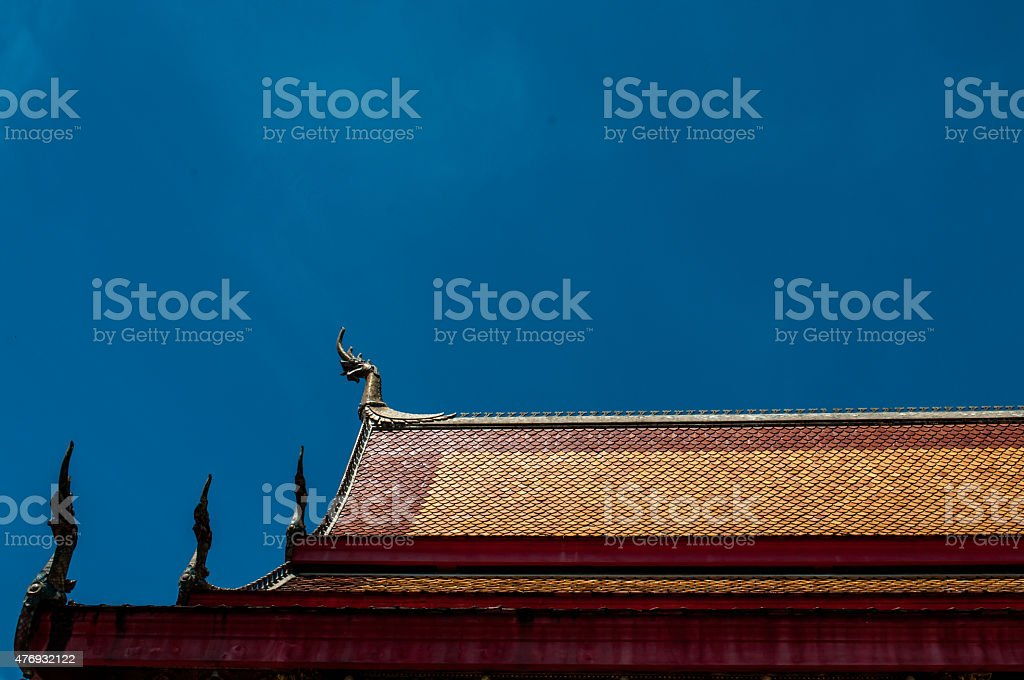 Roof of a temple in Luang Prabang stock photo