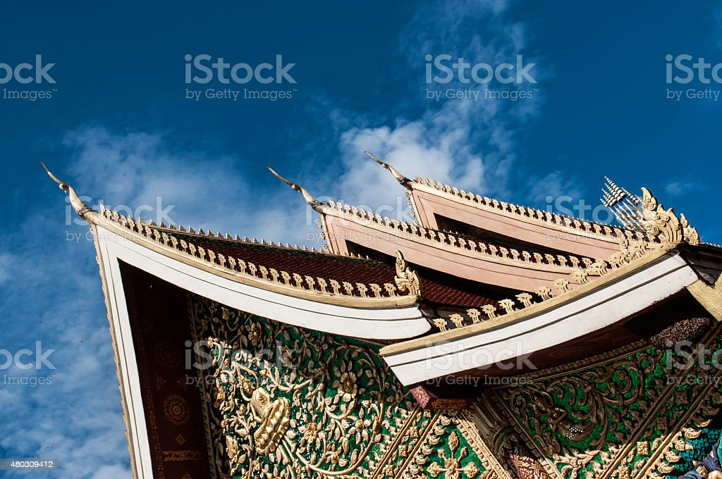 Roof of a temple stock photo