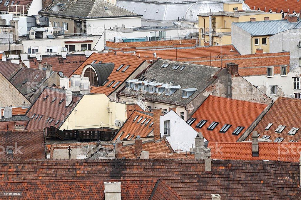 Roof of Bratislava royalty-free stock photo
