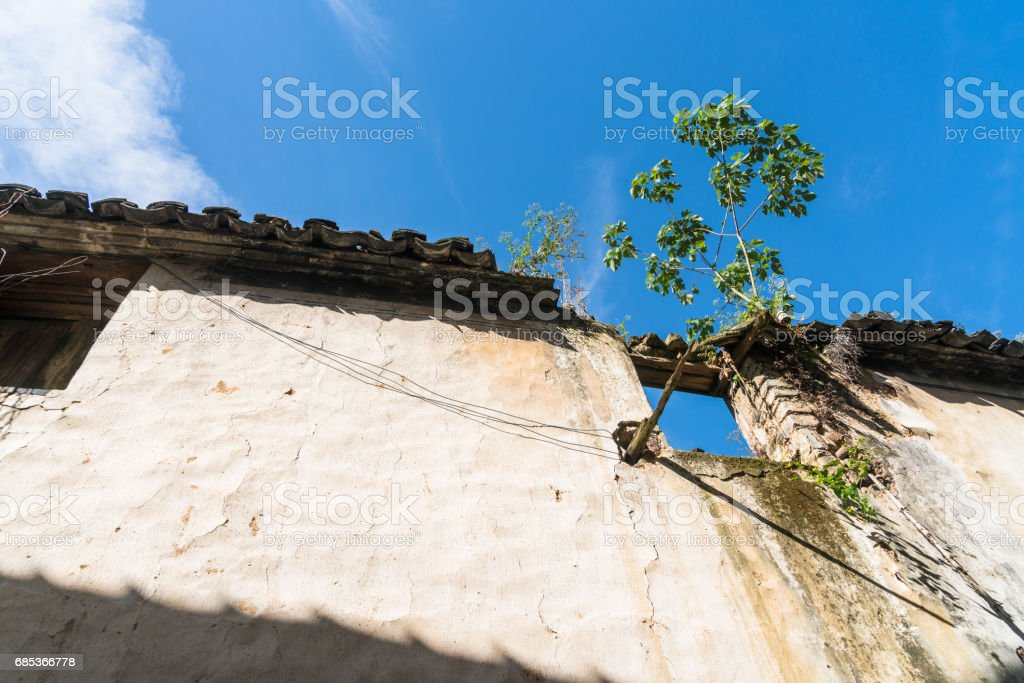 roof of historic building against blue sky foto de stock royalty-free