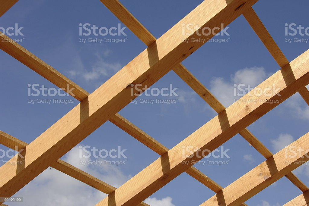 Roof of house under construction royalty-free stock photo