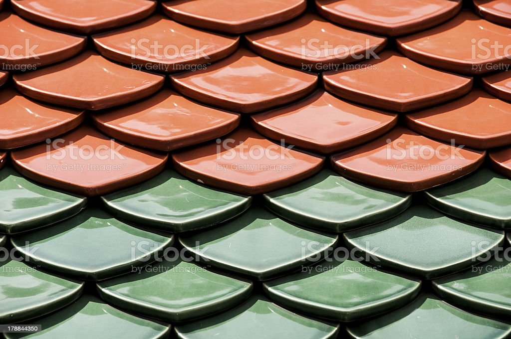 Roof of Temple royalty-free stock photo