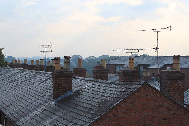 Roof of terrace houses – Foto