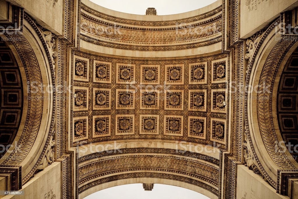 Roof Of The Arc de Triomphe - XLarge royalty-free stock photo