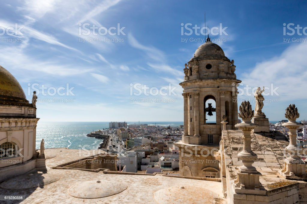 roof of the Cathedral of Cadiz royalty-free stock photo