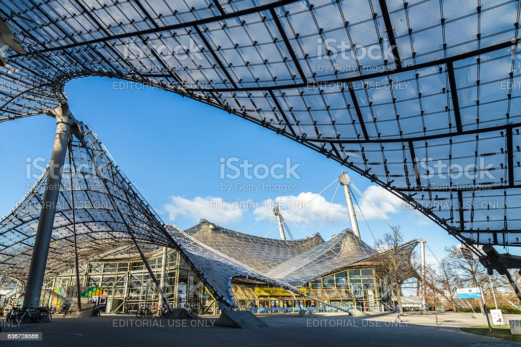 roof of the stadium of the Olympiapark stock photo