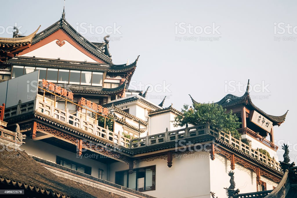 Roof Of The Temple Built In The Ancient Chinese Style Stock Photo